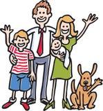 Photo de famille Illustration Libre de Droits