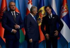 Photo de famille des participants au 25ème sommet d'anniversaire de la coopération économique BSEC de la Mer Noire Photos stock