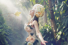 Photo de fantaisie de la femme exotique image libre de droits