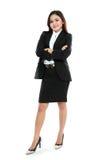 Photo de femme d'affaires tenant le signe des pour cent Image libre de droits