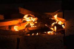 Photo de feu de camp Image libre de droits