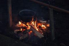 Photo de feu de camp Photographie stock