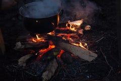 Photo de feu de camp Image stock