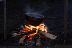 Photo de feu de camp Photo libre de droits