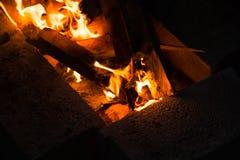 Photo de feu de camp Photos libres de droits