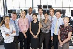 Photo de groupe d'équipe d'opérateurs en bourse Images stock