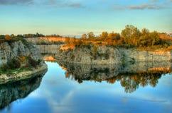 Photo de HDR d'horizontal en bois Images libres de droits