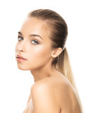 Photo de jeune femme attirante Photographie stock