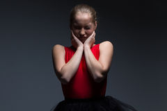 Photo de jeune fille vilaine Image libre de droits
