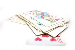 Photo de jouer des cartes Photographie stock libre de droits