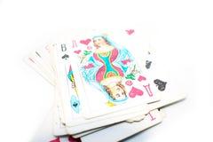 Photo de jouer des cartes Photographie stock