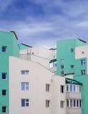 Photo de l'immeuble moderne blanc vert Photo libre de droits