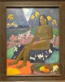 Photo de l'original célèbre 'que la graine de l'Areoi' a peint par Paul Gauguin Image stock