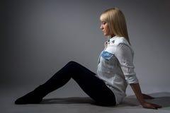 Photo de la belle fille photos stock