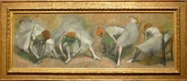 Photo de la peinture originale par Edgar Degas : Frise de ` de ` de danseurs image stock