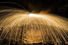 Photo de laine en acier dans le watter Image stock