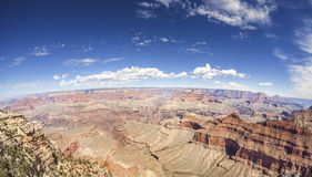 Photo de lentille de Fisheye de la jante de sud de Grand Canyon Photographie stock libre de droits