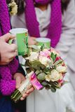 Photo de mariage d'hiver images stock