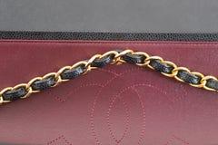 Photo de marque noire de sac à main de Chanel images stock