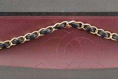 Photo de marque noire de sac à main de Chanel photos libres de droits