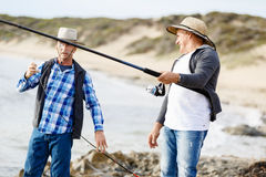 Photo de pêcheur Photographie stock