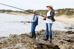 Photo de pêcheur Image libre de droits