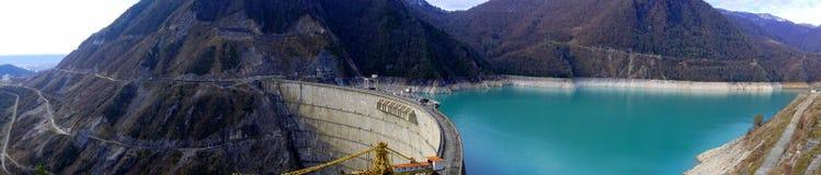 Photo de panorama de barrage d'Inguri Image stock