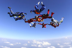 Photo de parachutisme. Images stock