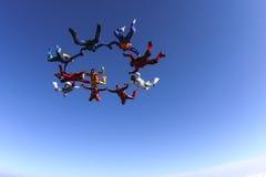 Photo de parachutisme. Images stock