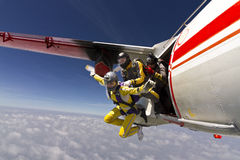 Photo de parachutisme. Photographie stock