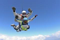 Photo de parachutisme. Tandem. photo libre de droits