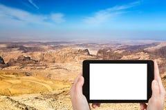 Photo de paysage de montagne de la Jordanie près de PETRA Images libres de droits
