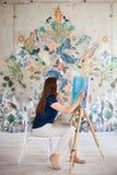 Photo de peinture d'artiste sur la toile Photo libre de droits