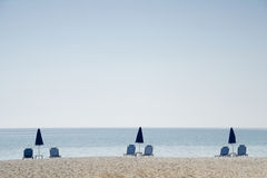 Photo de plage de Minimalistic - horizontale Photo libre de droits