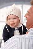 Photo de plan rapproché de bébé heureux Photo stock