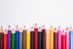 Photo de plan rapproché des crayons, crayon de couleur Images stock