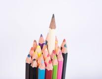 photo de plan rapproché des crayons, crayon de couleur d'isolement sur le backgro blanc Image libre de droits