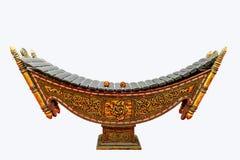 Photo de plan rapproché de xylophone, instrument de musique traditionnel de Myanmar photos libres de droits