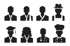 Photo de profil d'avatar du travail homme, avocat et plus d'affaires illustration stock