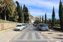 Photo de rue de Malaga, Espagne Photographie stock libre de droits
