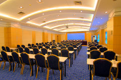 Photo de salle de conférence d'hôtel Photos stock