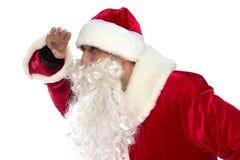 Photo de Santa Claus regardant loin Photos stock