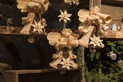 Photo de scène en bois de nativité, handcarved photo libre de droits