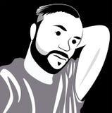 Photo de selfie de visage de bande dessinée Images stock