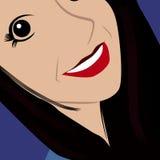 Photo de selfie de visage de bande dessinée Photographie stock