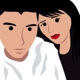 Photo de selfie de visage de bande dessinée Image stock