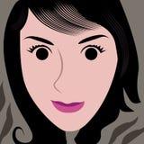 Photo de selfie de visage de bande dessinée Photos libres de droits