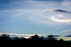 Photo de silhouette de crépuscule photo libre de droits