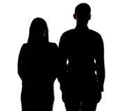 Photo de silhouette du ` s de couples Photo libre de droits