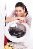 Photo de studio des vêtements de blanchisseurs de femme photos libres de droits